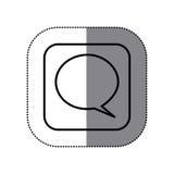 Fugure sumbol chat bubble icon Royalty Free Stock Photography