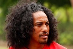 Fuifui Moimoi gives interview upon arrival at his home island Va Stock Images