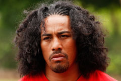 Fuifui Moimoi gives interview upon arrival at his home island Va Royalty Free Stock Photography