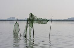 Fuiken, Fish-traps stock photo