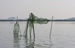Fuiken Fisk-fällor arkivfoto