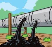 Fuite de canalisation illustration stock