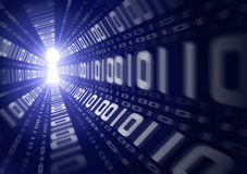 Fuite de données binaires illustration libre de droits