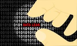 Fuite de données des données de code binaire illustration libre de droits