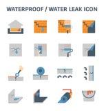 Fuite de imperméabilisation de l'eau illustration stock