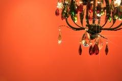 Fuite en cristal électrique de lustre Photo libre de droits