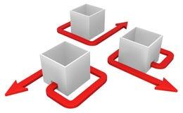 Fuite rouge de boîte de flèche illustration libre de droits