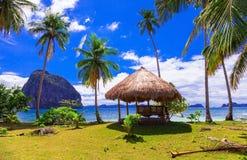 Fuite tropicale - beauté sauvage d'île de Philippines, sce stupéfiant images libres de droits