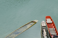 Fuites de bateau à rames Photographie stock libre de droits