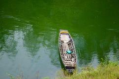 Fuites de bateau à rames Photographie stock