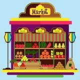 Fuits и рынок овощей Стоковая Фотография
