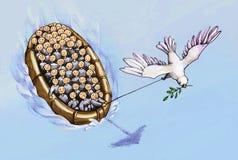 Fuja à procura da paz ilustração royalty free