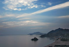 Fujairah coast at Dawn. An early morning view along Fujairah coast, UAE, Middle East royalty free stock photography