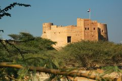 Fujairah Fort, Fujairah City Royalty Free Stock Photos