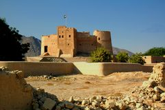 Fujairah Fort, Fujairah City Royalty Free Stock Images