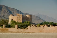 Fujairah Fort, Fujairah City Royalty Free Stock Photography