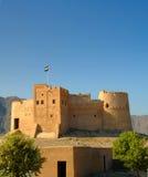 Fujairah fort, Fujairah miasto Fotografia Royalty Free