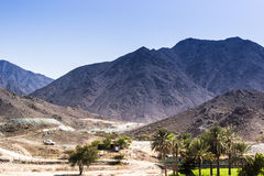 Fujairah mountains. This was taken by the roadside going to fujairah royalty free stock photography