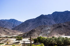 Fujairah mountains Royalty Free Stock Images