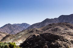 Fujairah mountains. This was taken by the roadside going to fujairah stock photos