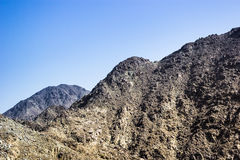 Fujairah mountains. This was taken by the roadside going to fujairah stock image