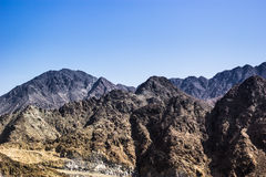 Fujairah mountains. This was taken by the roadside going to fujairah royalty free stock photo