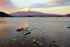 Fuji. View from Kawaguchiko lake stock images