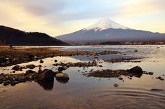 Fuji. View from Kawaguchiko lake stock photo