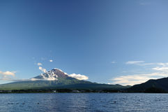 Fuji. View from Kawaguchiko lake royalty free stock photo
