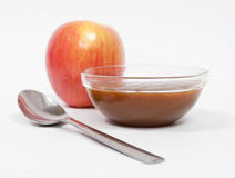 Fuji Apple with Caramel Royalty Free Stock Image