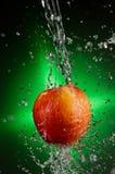 Fuji Apple Splash Stock Photo