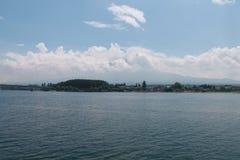 Fuji berg i molnig dag fotografering för bildbyråer