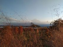 Fuji bergsikt i Japan royaltyfri foto