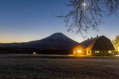 Fuji Camping. Camping at mountain fuji, Japan royalty free stock photo