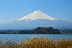 Fuji with clear sky Stock Photos