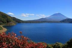 Fuji dal lago Motosuko Immagini Stock
