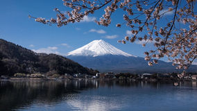 Fuji in de ochtend, Kawaguchiko, Japan Royalty-vrije Stock Foto's