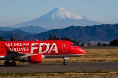 FUJI DREAM AIRLINES ERJ 170. FUJI DREAM AIRLINES Embraer ERJ-170 Taked At FUJISAN SHIZUOKA AIRPORT JA01FJ Stock Photos