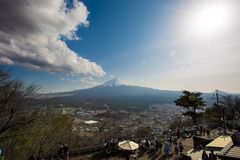 Fuji en el lago Kawaguchiko Fotos de archivo
