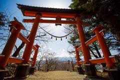 Fuji en el lago Kawaguchiko Imágenes de archivo libres de regalías