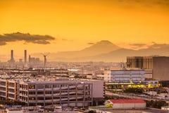 Fuji and Factories Stock Image