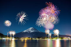 Fuji fajerwerk Fotografia Stock
