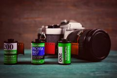 Fuji film rolls Royalty Free Stock Photos