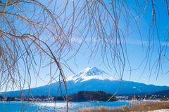 Fuji góra od Kawaguchiko jeziora Obrazy Royalty Free