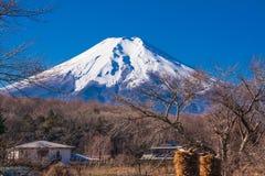Fuji góra w ranku czasie Zdjęcia Stock