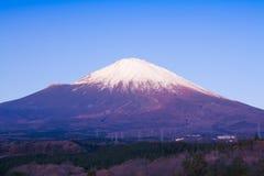 Fuji góra w ranku czasie Fotografia Royalty Free