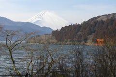 Fuji góra w zimie Obraz Stock