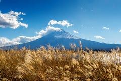 Fuji góry i kawaguchiko jezioro w jesieni, Japonia Obrazy Stock