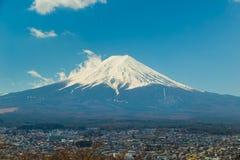 Fuji góry krajobrazu niebieskie niebo Obraz Stock