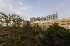 Fuji-Gebäude und Aquastadtunterhaltungsmitte Stockfotografie